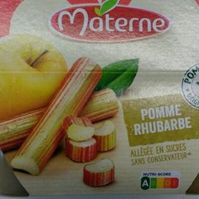 Compote pomme rhubarbe (Materne)