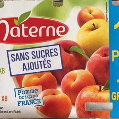 Compote assortiment sans sucres ajoutés pomme & pomme pêche abricot (Materne)