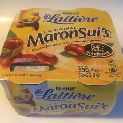 Mousse à la crème de marron maronsui's (Nestle la laitiere)