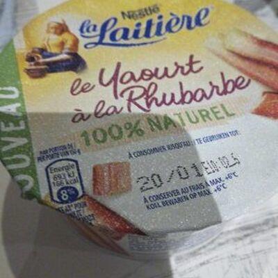 Le yaourt à la rhubarbe 100% naturel (La laitière)