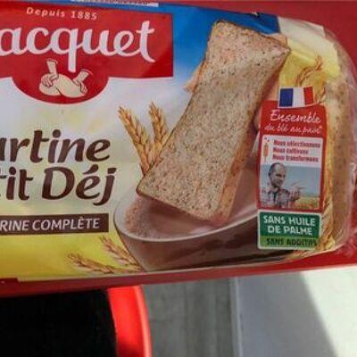 Tartine p'tit déj à la farine complète (Jacquet)