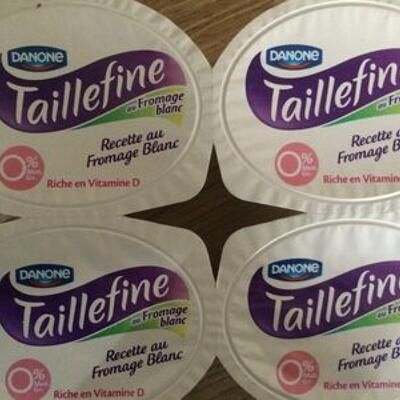 Taille fine recette fromage blanc saveur vanille 0% (Danone)