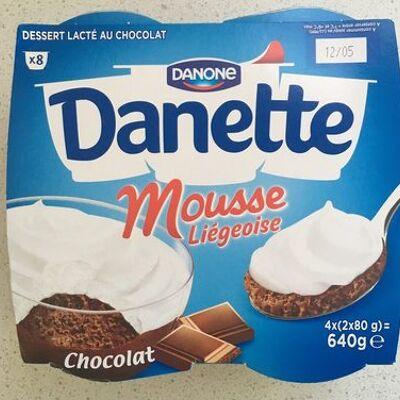 Danette mousse liégeoise chocolat (Danone)