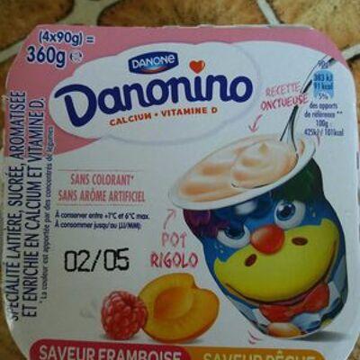 Danonino framboise-pêche (Danone)