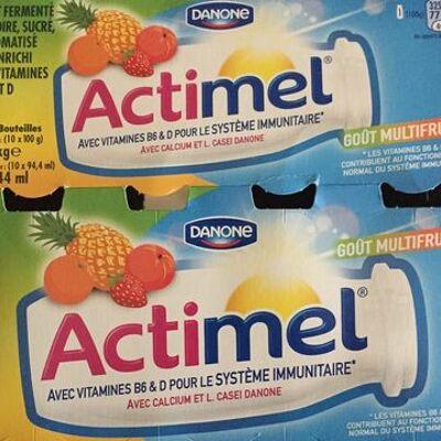 Actimel multifruits (Danone)