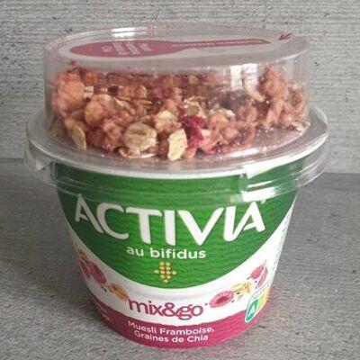 Activia mix&go muesli framboise graines de chia (Danone)