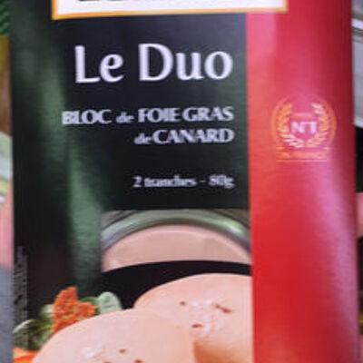 Le duo bloc de foie gras de pato (Labeyrie)