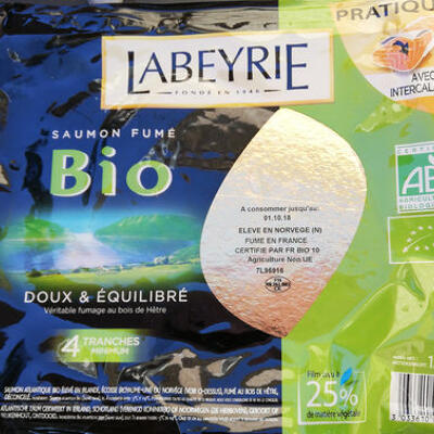 Saumon fumé bio 4 tranches (Labeyrie)