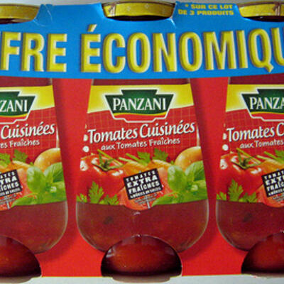 Sauce tomates cuisinées aux tomates fraîches (lot de 3 x 400 g) panzani (Panzani)