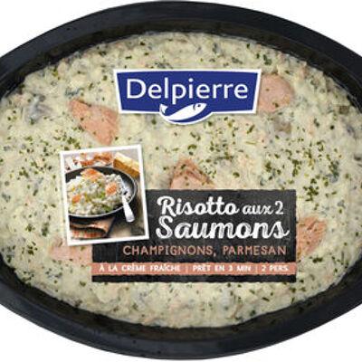 Risotto aux 2 saumons champignon , parmesan (Delpierre)