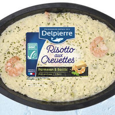 Risotto aux crevettes parmesan et basilic (Delpierre)