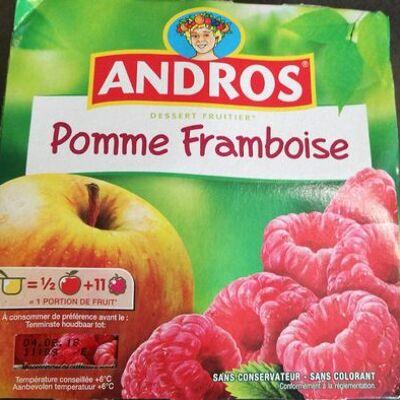 Dessert fruitier pomme framboise (Andros)