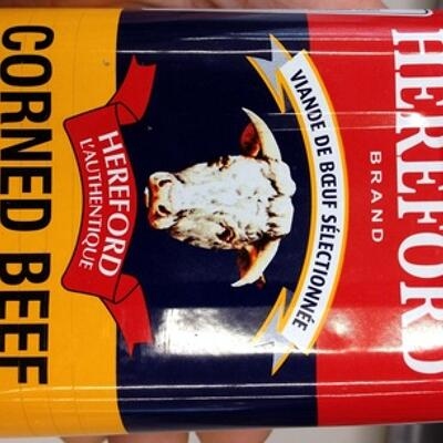 Corned beef argentino carne vacuna lata 340 g (Hereford)