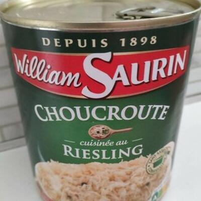 Choucroute cuisinée au riesling (William saurin)