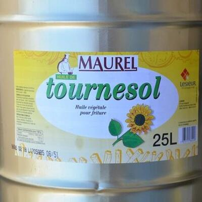 Huile végétale de tournesol pour friture (Maurel)
