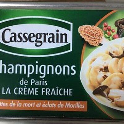 Champignons de paris à la crème fraîche (Cassegrain)