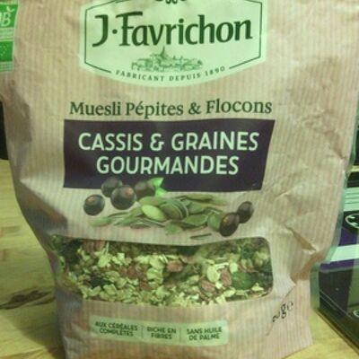 Muesli pépites & flocons, cassis & graines gourmandes (Joseph favrichon)