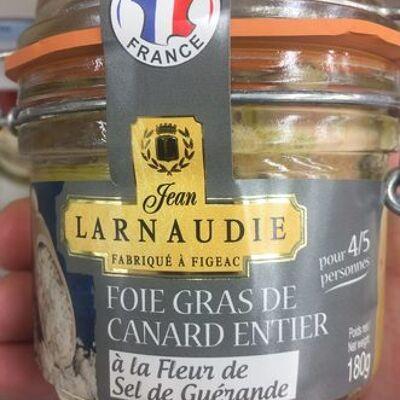 Foie gras de canard entier à la fleur de sel de guérande (Jean larnaudie)