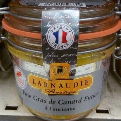 Foie gras de canard entier à l'ancienne (Larnaudie prestige)