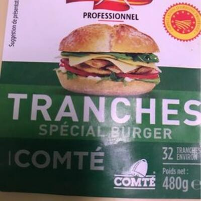 Comté tranché aop format carré pour burger (Entremont)