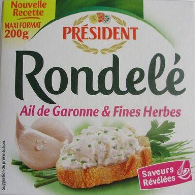 Rondelé ail de garonne & fines herbes (30 % mg) (Président)