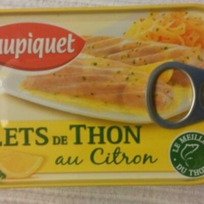 Filets de thon au citron (Saupiquet)