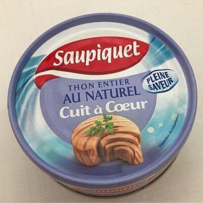 Thon entier au naturel cuisson à coeur (Saupiquet)