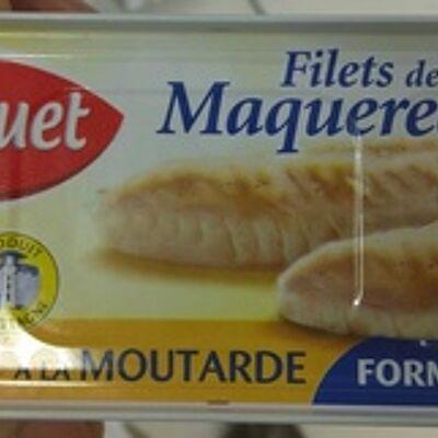 Filets de maquereaux à la moutarde (format familial) (Saupiquet)