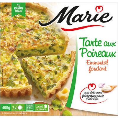 Tarte aux poireaux, emmental et crème fraiche (Marie)