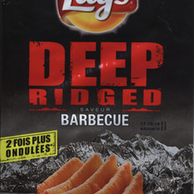 Deep ridged saveur barbecue (Lay's)