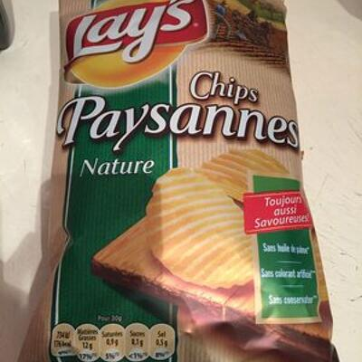 Chips paysannes nature (Lay's)