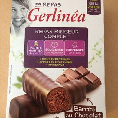Repas minceur complet barres saveur chocolat (Gerlinéa)