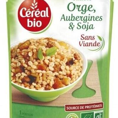 Cuisiné aubergines, orge et soja (Céréal bio)