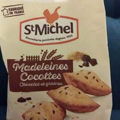 Madeleines cocottes chocolat et graines (St michel)