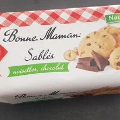 Sablés noisettes chocolat (Bonne maman)