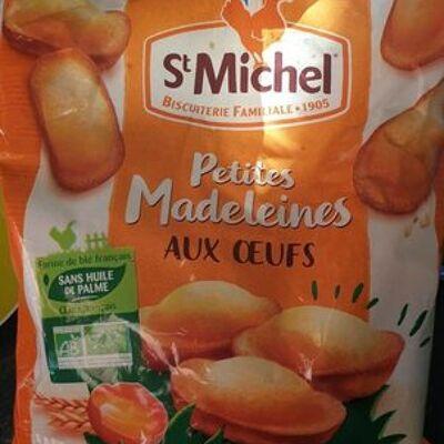 Petites madeleines aux oeufs bio (St michel)