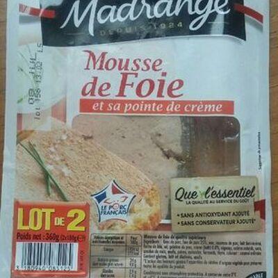 Mousse de foie et sa pointe de crème (Madrange)