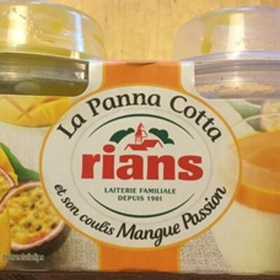 La panna cotta et son coulis mangue passion (Rians)