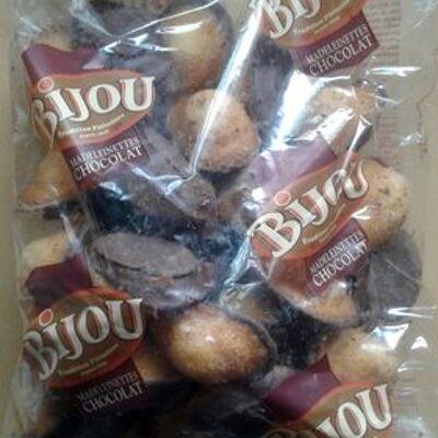 Madeleinettes nappées chocolat noir bijou (Bijou)