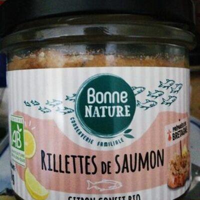 Rillettes de saumon citron confit bio (Bonne nature)