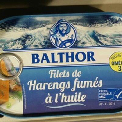 Filets de harengs fumés à l'huile (Balthor)