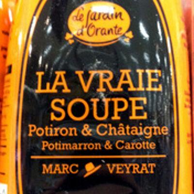 La vraie soupe potiron & châtaigne potimarron & carotte (Le jardin d'orante)