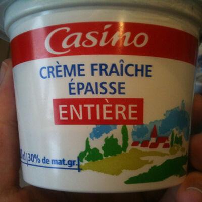 Crème fraîche épaisse entière (Casino)