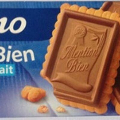 Biscuits mention bien chocolat au lait (Casino)