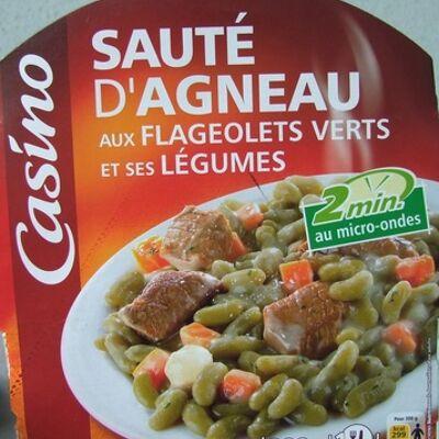 Sauté d'agneau aux flageolets verts et ses légumes (Casino)
