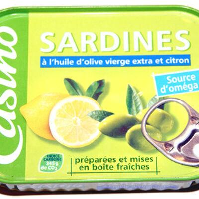 Sardines à l'huile d'olive vierge extra et citron (Casino)