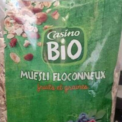 Muesli floconneux fruits & graines (Casino)
