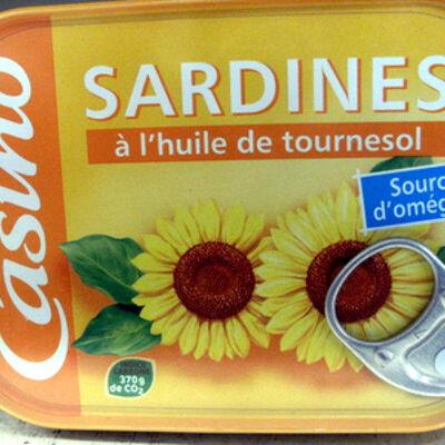 Sardines à l'huile de tournesol (Casino)