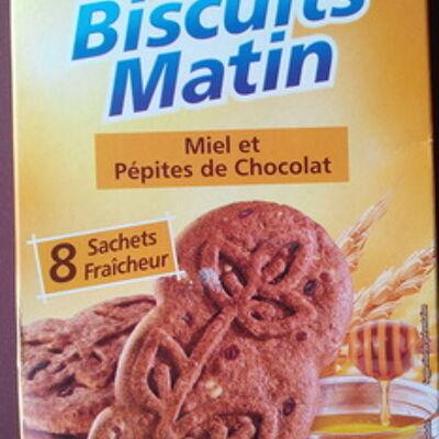 Biscuits matin miel et pépites de chocolat (Casino)
