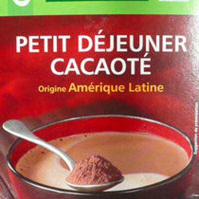 Petit déjeuner cacaoté - origine amérique latine (Casino bio)